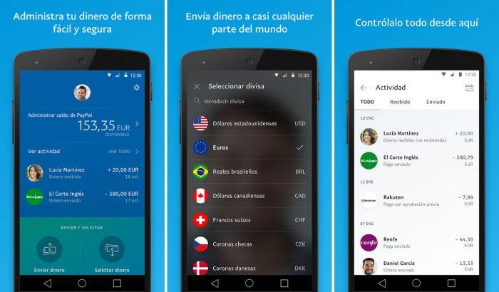 App oficial de Paypal para Android e IOS