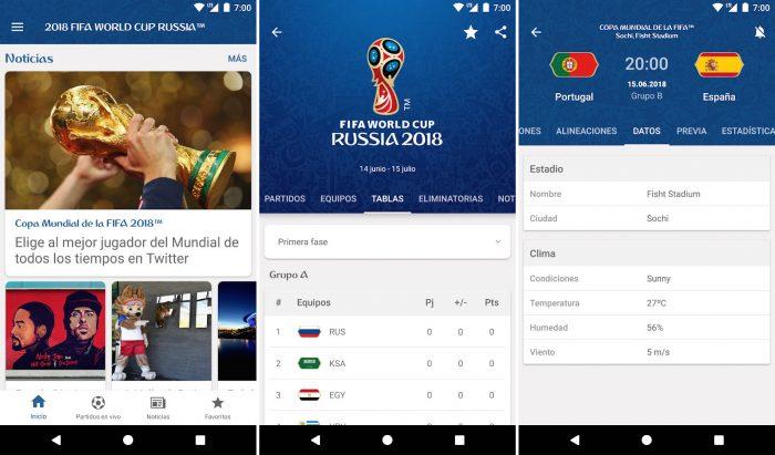 App Copa Mundial de la FIFA Rusia 2018