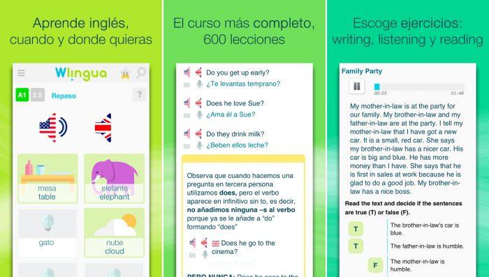 App de Wlingua para Aprender Ingles Gratis