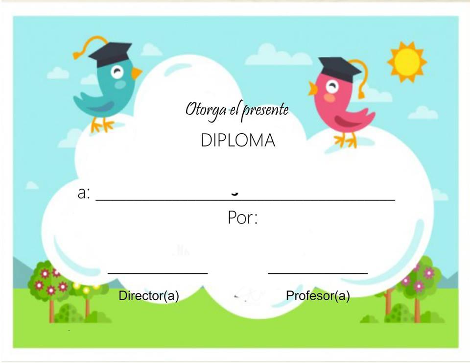 diplomas infantiles escolares para ni u00f1os para imprimir gratis
