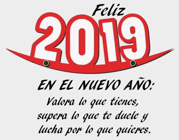 Resultado de imagen de felicitar el año nuevo 2019