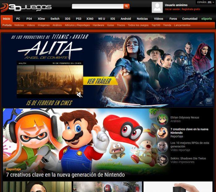 3DJuegos elegida como la mejor revista de videojuegos en España.