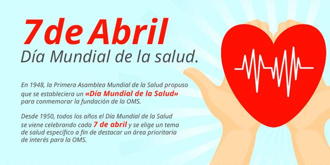Información sobre el Día Mundial de la Salud, 7 de Abril