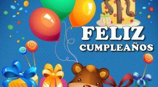 Imágenes de Feliz Cumpleaños para compartir por whatsapp, Facebook y redes sociales.